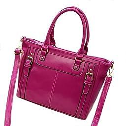 SHENGXILU Women\'s PU Leather Handbag Purple