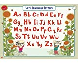 Educational Learning Mats : Learn to write your upper and lower case letters for left-handers - Write-on, wipe-clean learning mats, or placemat.