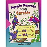 Purple Parrots Eating Carrots