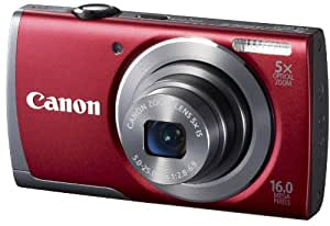 Canon PowerShot A3500 IS Digital Camera with Wi-Fi - Red (16 MP, 28mm Wide Angle, 5x Optical Zoom) 3.0 inch LCD