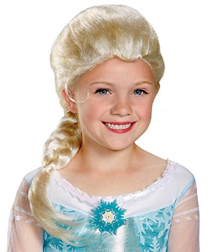 disneys frozen elsa costume wig by disguise girls one size child