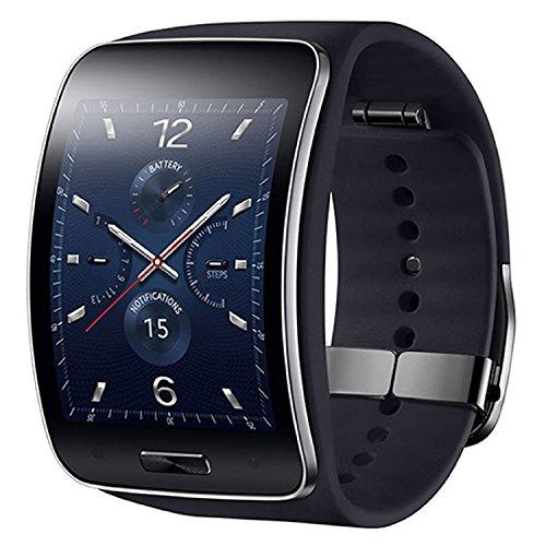Samsung Gear S SM-R750 (S/K) Curved Super AMOLED Smart Watch (Black) - International Version No Warranty (Samsung Gear S Smartwatch compare prices)