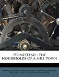img - for Homestead: the households of a mill town book / textbook / text book