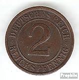 alemán Imperio Jägernr: 314 1936 D muy ya Bronce 1936 2 Reichspfennig Ährengarbe (monedas para los coleccionistas)