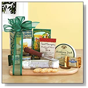 Gourmet Meat and Cheese Gift Basket | Great Fathers Day Meat and Cheese Gift Idea