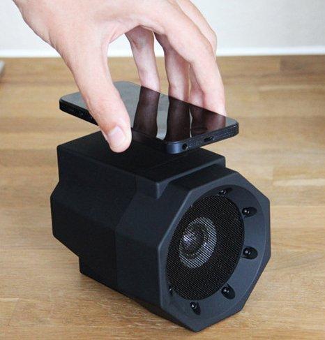 JX-SHOPPU スマートフォンに対応 スマホを置くだけで爆音になるスピー...
