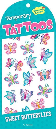 Peaceable Kingdom Sweet Butterflies Temporary Tattoos