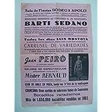 Cartel - Small Poster: SALA DE FIESTAS BODEGA APOLO. BARCELONA 1963