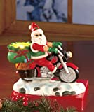 Motorcycle Biker Santa Tea Light Candle Holder