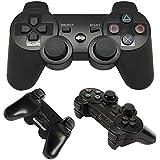 ASPRI Wireless Bluetooth Ps3 Game Controller - Double Vibration Controller Remote (Black)