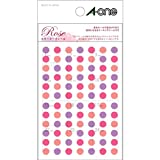 エーワン 手帳用シール Rose カラーマークシール 05175