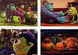Disney MONSTERS UNIVERSITY Set of Four 10X14 Lithographs - Includes Storage Folder