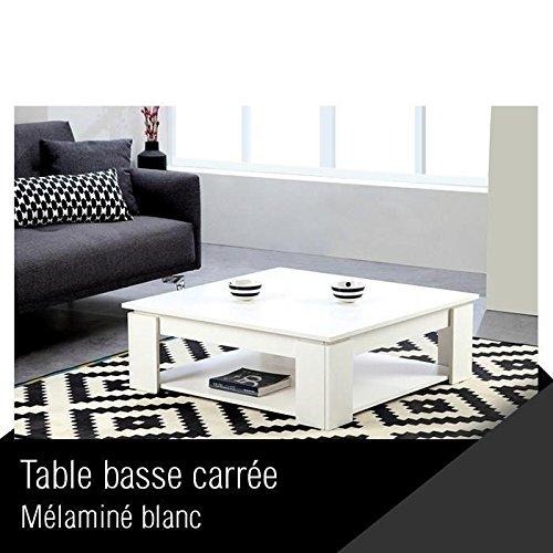 Manhattan - Tavolo basso quadrato, colore: bianco
