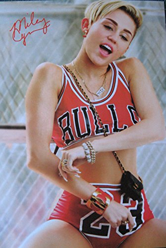 Miley Cyrus sexy POSTER 14.5 x 21 twerk in basketball uniform great gift (sent FROM USA in PVC pipe)