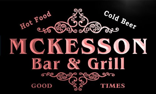 u29654-r-mckesson-family-name-bar-grill-home-beer-food-neon-sign-enseigne-lumineuse