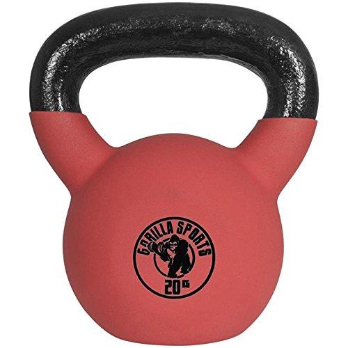 gorilla-sports-kettlebell-red-rubber-in-ghisa-rivestimento-in-neoprene-colore-rosso-pezzo-20-kg