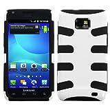 Samsung I777 I-777 / Galaxy S2 S 2 II I9100 I-9100 Solid Black Silicone Skin Gel With Natural Finish Ivory White...