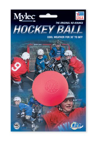 Mylec Cool Weather No Bounce Hockey Balls, Pink (Pack of 6)