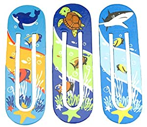 Wild Republic Wild Republic Wood Bookmark Aquatic, Multi Color