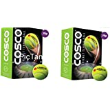 Cosco Light Weight Cricket Tennis Balls (Pack Of 12) AND FREE SPORTSHOUSE WRIST BAND