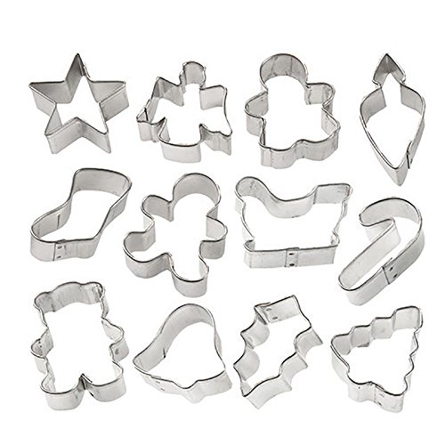 Wilton Holiday Mini Cookie Cutter set of 12, 2308-1250 (Small Metal Cookie Cutters compare prices)