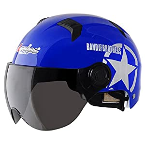 [BLUE Star]Adjustable Breathable Adult/Kids Scooter/Chopper/Motorcycle Helmets