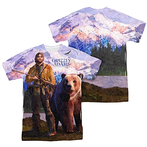 Grily Adams Man And Bear All Over Front/Back T-Shirt