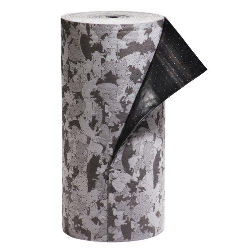 "New Pig Mat132 Polypropylene Gray Ham-O Hamouflage Pattern Poly-Back Absorbent Mat Roll, 40.6 Gallon Absorbency, 150' Length X 31"" Width front-961880"
