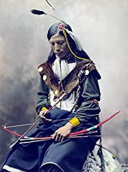 A Hand-Tinted Chief Bone Necklace, ca. 1900 Photograph - Beautiful 16x20-inch Photographic Print from the Library of Congress Collection