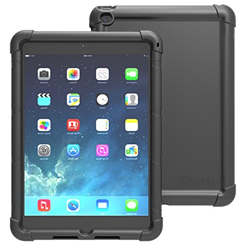 Check Out This iPad Air 2 Case – Poetic iPad Air 2 Case [Turtle Skin Series] – [Corner/Bumper Protection] [Grip] [Sound-Amplification] Protective Silicone Case for Apple iPad Air 2 Black (3 Year Manufacturer Warranty From Poetic)