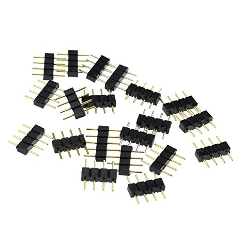 simnat-20pcs-4-pin-male-connector-connecter-for-3528-5050-smd-rgb-led-strip-lighting