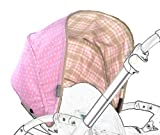 Poplico Reversible Canopies for Bugaboo Bee+ (Rose/ Pink)