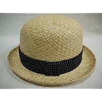 (カスターノ)CASTANO 天然 ダービーハット 帽子 ハット 男女兼用 メンズ レディース/ 132210 ナチュラル/麦わら ボーラー カジュアル 涼しい 軽量 春夏