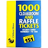 1000 Cloakroom and Raffle Tickects