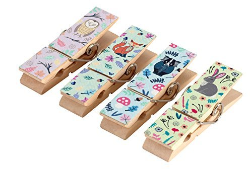 set-of-4-woodland-animal-magnetic-pegs-vintage-fridge-magnets-message-note-clips