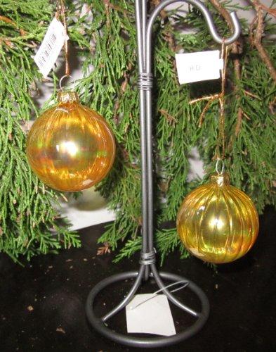6 Weihnachtskugeln gelb durchsichtig
