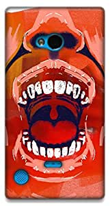 The Racoon Grip The Insides hard plastic printed back case / cover for Nokia Lumia 720