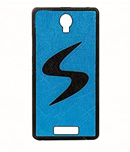 Exclusive Rubberised Back Case Cover for Micromax Bolt Q335 - Sky Blue With Black