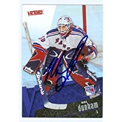 Buy Mike Dunham Autographed Hand Signed Hockey Card (New York Rangers) 2003 UD Victory #128 by Hall of Fame Memorabilia