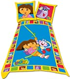 Dora The Explorer Nr1 Single Duvet Set Panel Print