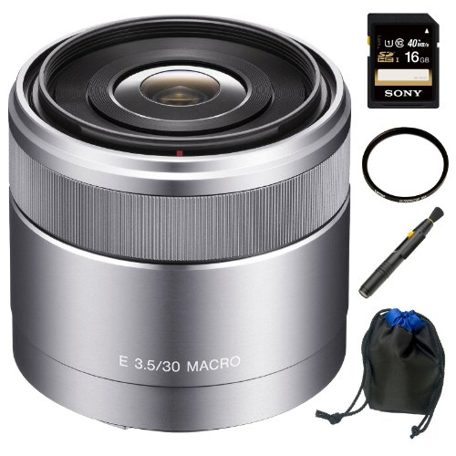 Sony DSLR SEL30M35 30mm F3.5 E-Mount Nex Macro Lens Kit K1