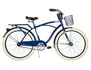 Huffy Men's Deluxe Cruiser Bike, Gloss Navy Blue, 26-Inch/Medium