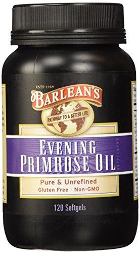 Barlean's Coordinated Oils Organic Evening Primrose Oil, 120 softgels/1300 mg ea. Bottle