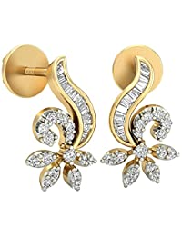 WearYourShine By PC Jeweller The Sigrid 18 K Gold And Diamond Stud Earrings