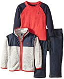 Nautica Baby Boys' 3 Piece Set Full Zip Jacket Outerwear Set