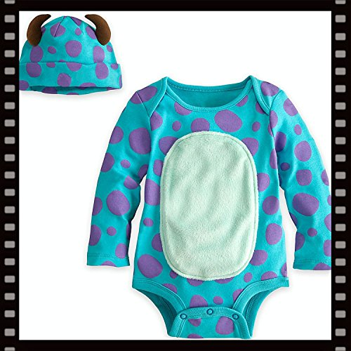 Authentic Disney Store Sulley Onesie Halloween Costume With Hat Size 3-6 Months