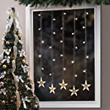 Brylanehome Pre-Lit Star Window String Light