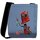 Snoogg Red Cute Machine Designer Womens Carry Around Cross Body Tote Handbag Sling Bags