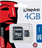 Kingston SDC4/4GB - Tarjeta micro SDC4/4GB (SDHC clase4,  4 GB con adaptador)