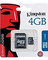 Kingston SDC4/4GB Carte micro SDHC Classe 4 - 4Go avec adaptateur